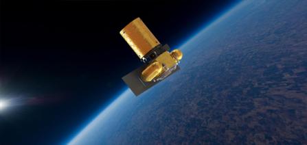 Vue d'artiste de l'Arkyd en orbite.