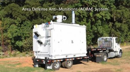 Le système ADAM avec sa plateforme de transport.