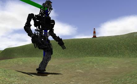 Version virtuelle du robot ATLAS de Boston Dynamics.
