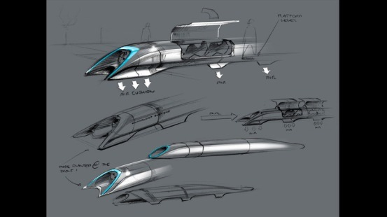"""Le """"pod"""" du système Hyperloop."""