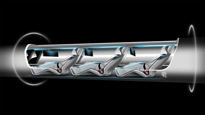 Un pod et ses passagers. Ceux-ci ne devraient pas subir d'accélérations supérieures à 1 g.