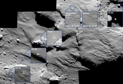 Atterrissage du lander Philae.