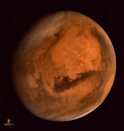Une photo de la planète Mars par la sonde indienne MOM.